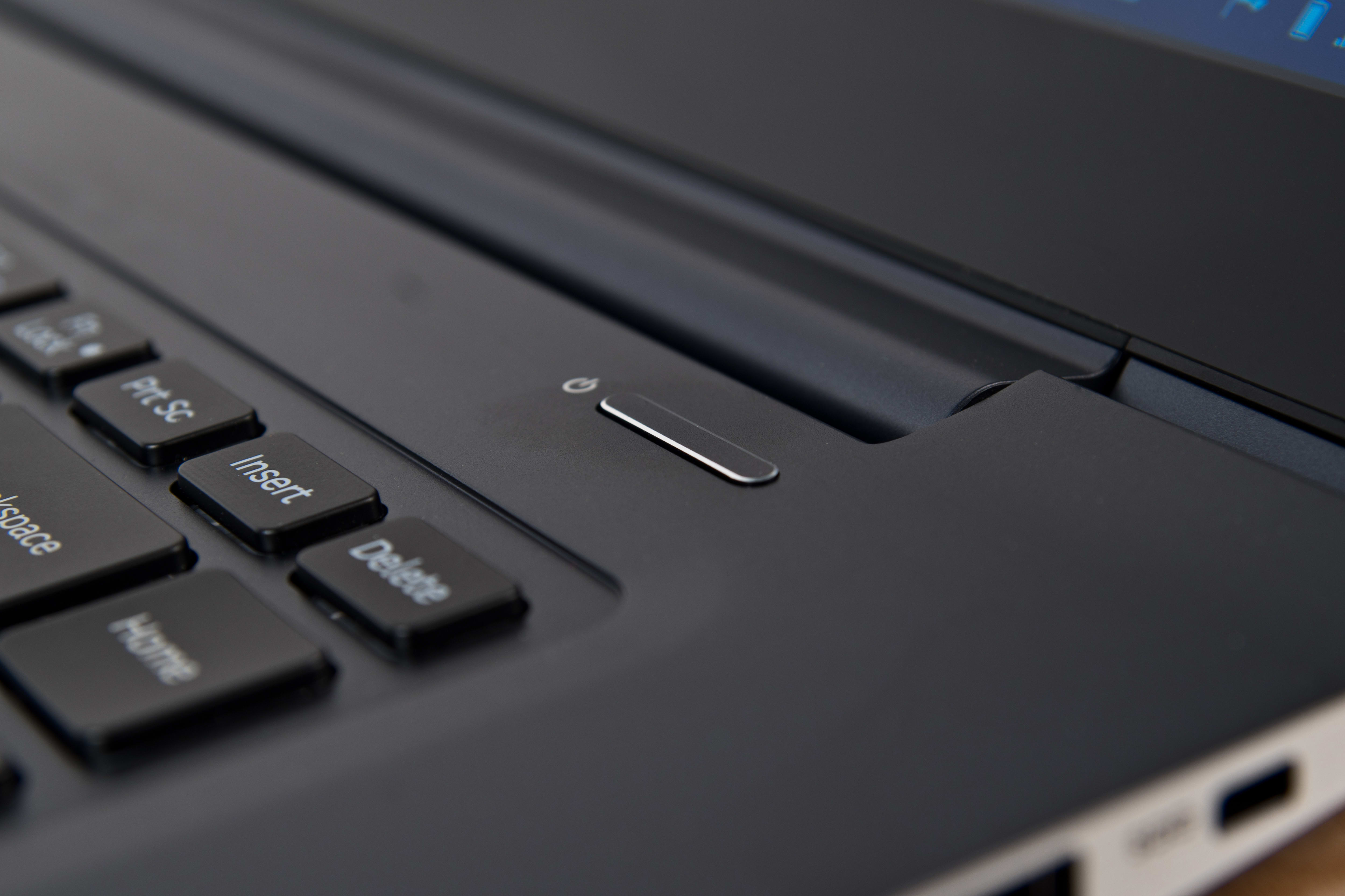 A photograph of the Samsung ATIV Book 9 2014 Edition's power button.