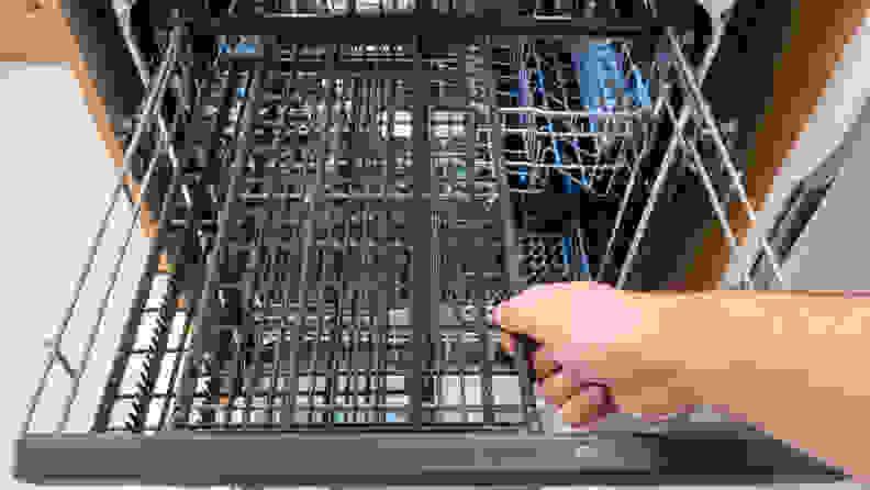Sharp SDW6757ES Dishwasher Review — Third rack slide