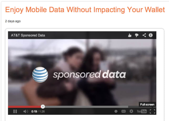 AT&T Introduces Sponsored Data, Draws Fire - Reviewed