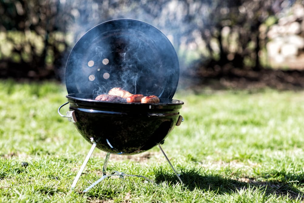 A classic Weber kettle grill
