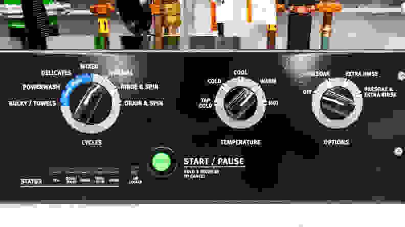 Maytag MVWP576KW Top-loading Washing Machine with Pole Agitator—Controls