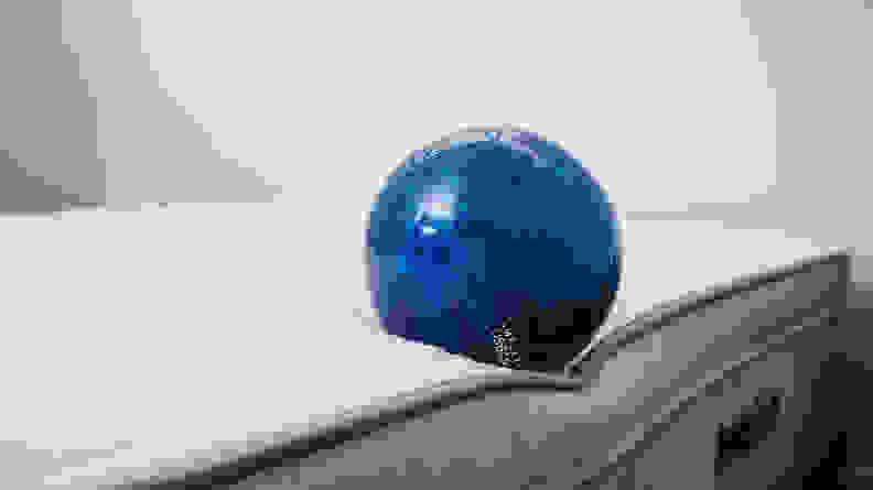 bowling ball on edge of awara mattress to test edge support