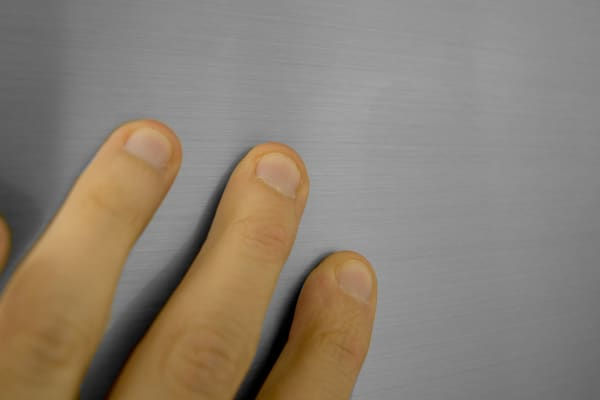 This particular stainless finish is relatively resilient against fingerprints.