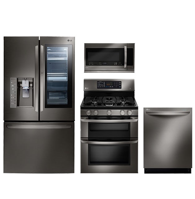 Off White Kitchen Cabinets With Stainless Appliances: Whirlpool, Frigidaire, GE, Kenmore, LG, KitchenAid, And