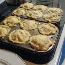 Pot pies in muffin tins