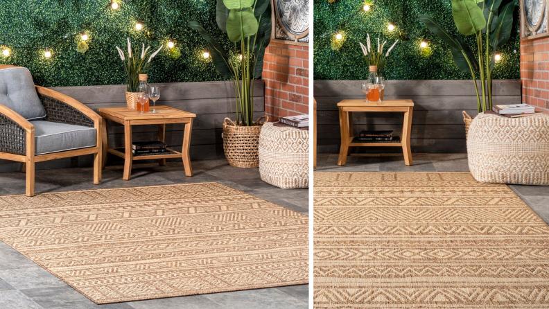 outdoor beige rug