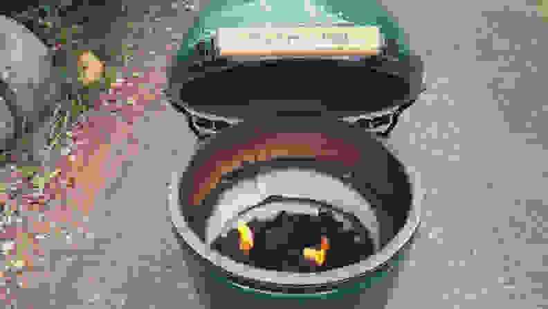 Big Green Egg coals 2