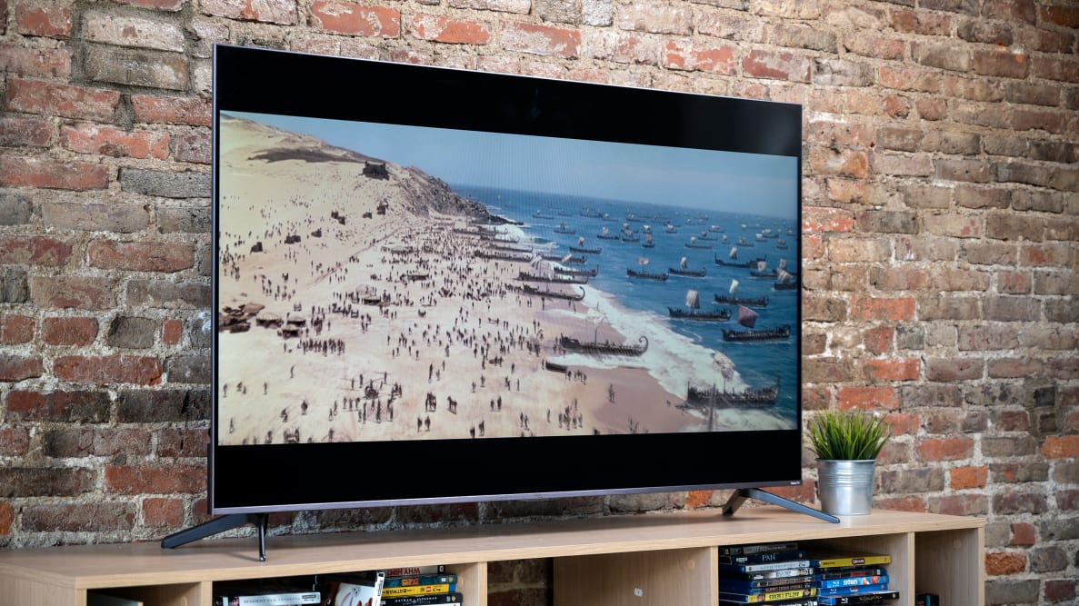 The 2020 TCL 5-Series displaying high-definition content in a living room setting