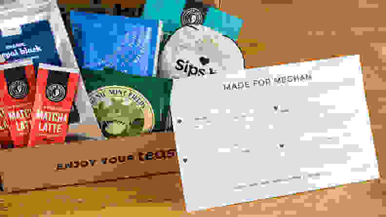 Subscription box to Sips By