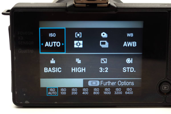 The quick menu system on the dp0 Quattro allows for near instant access to a number of key shooting settings.