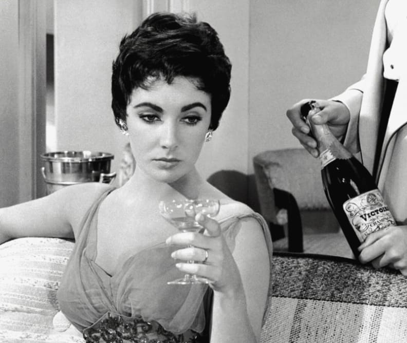 Elizabeth Taylor Champagne coupe