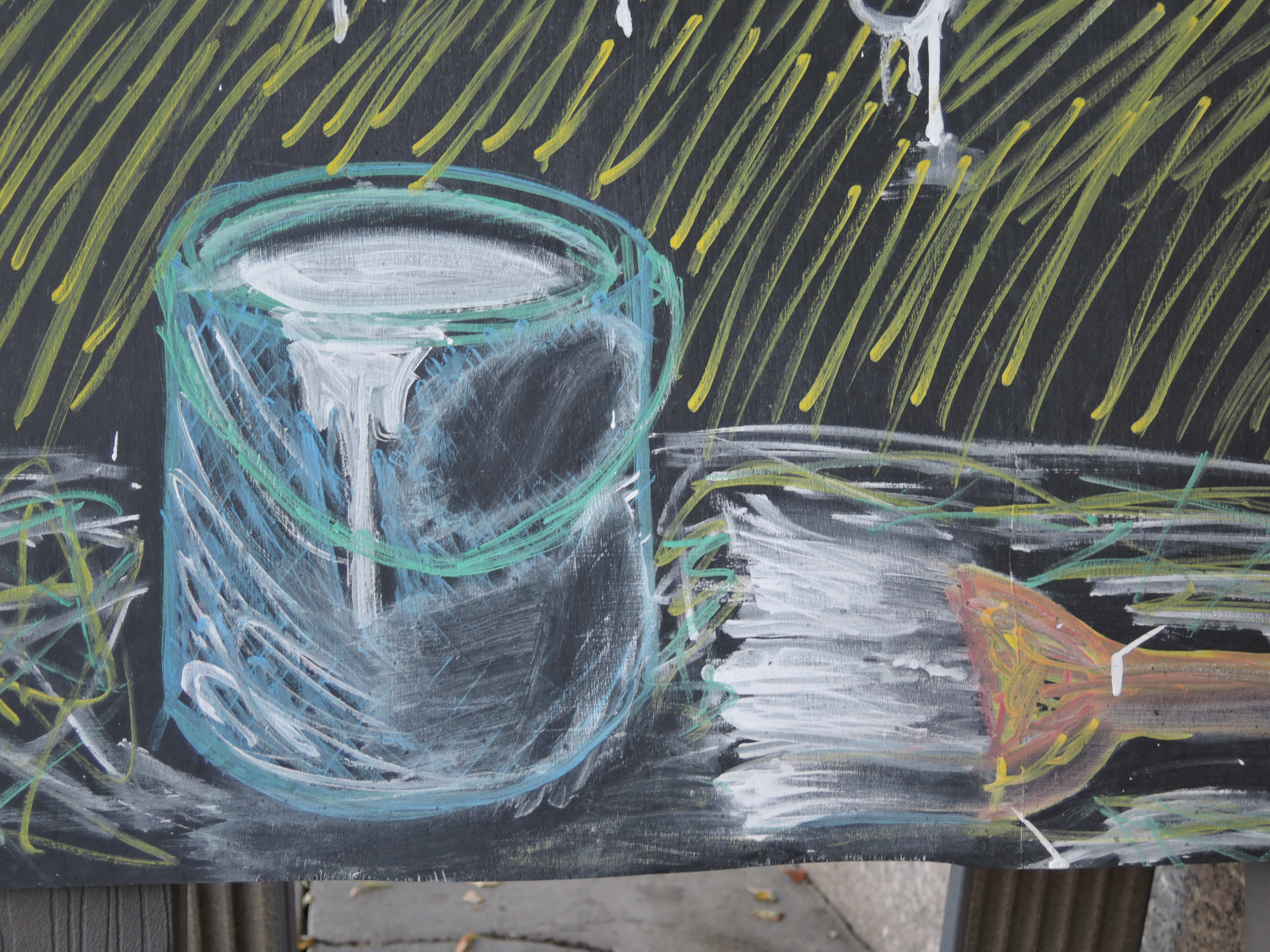 A sample photo of a chalk drawing taken by the Nikon Coolpix P340.