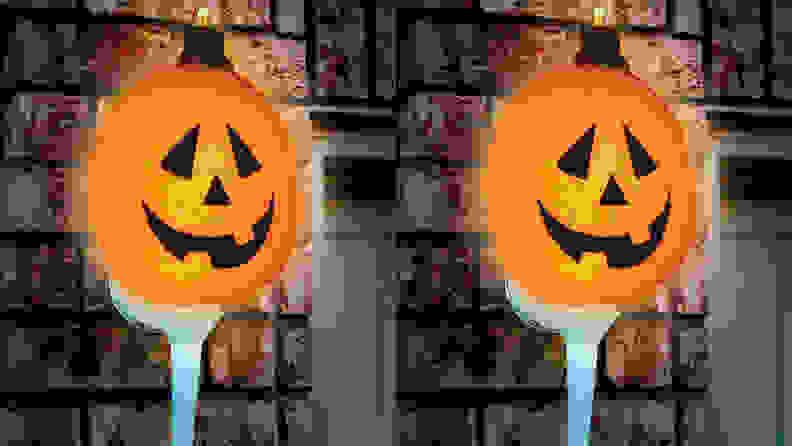 Seasons Sparkling Pumpkin Porch Light Cover