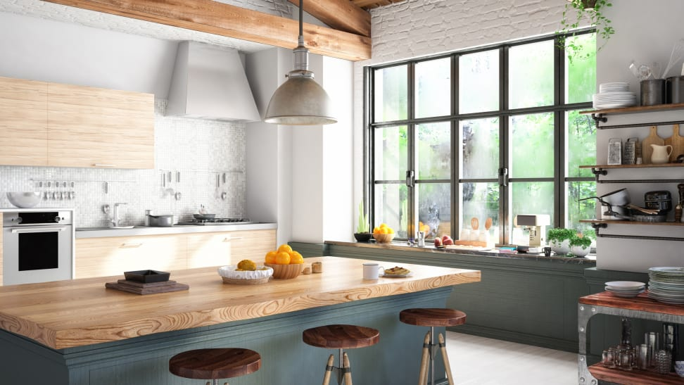 Farmhouse kitchens are the most popular style right now. They look cozy and warm.
