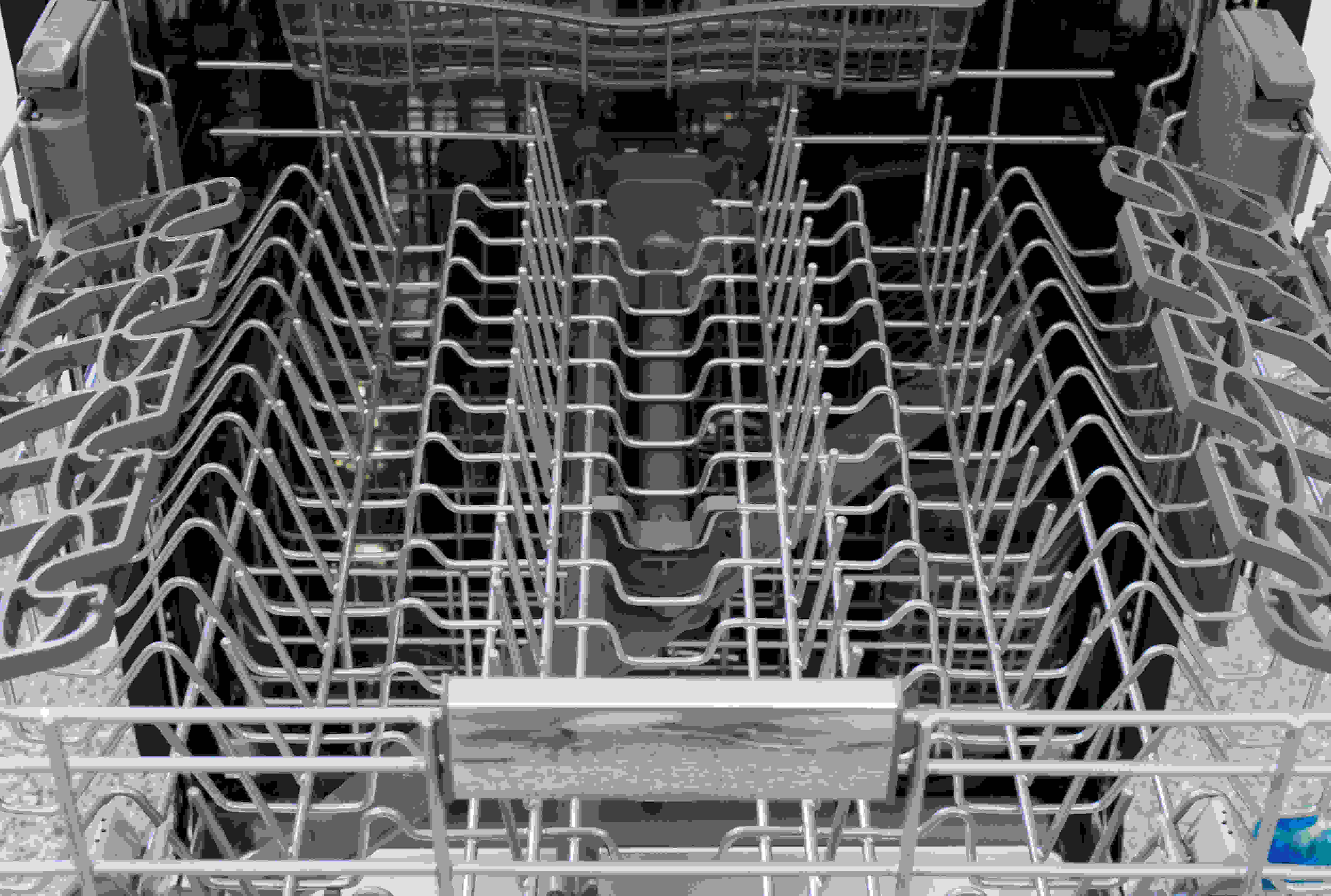 A wide view of the entire upper rack