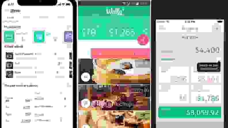 Wally app screenshots