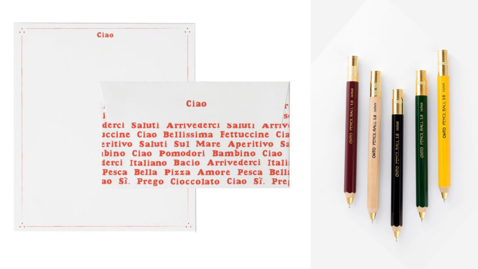 stationery and other letter writing accessories