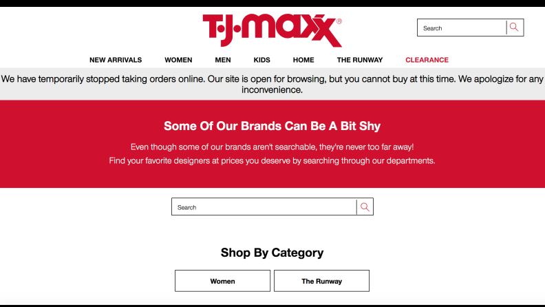 T.J. Maxx search