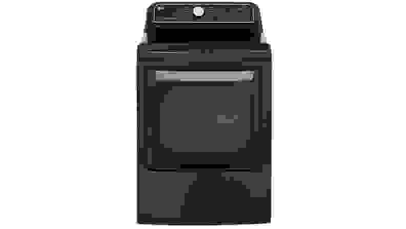 The LG DLEX7900BE dryer on a white background.