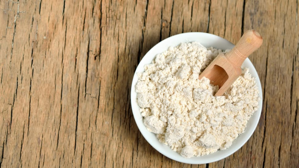 A bowl of finely ground colloidal oatmeal