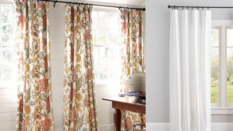 Pottery Barn curtains