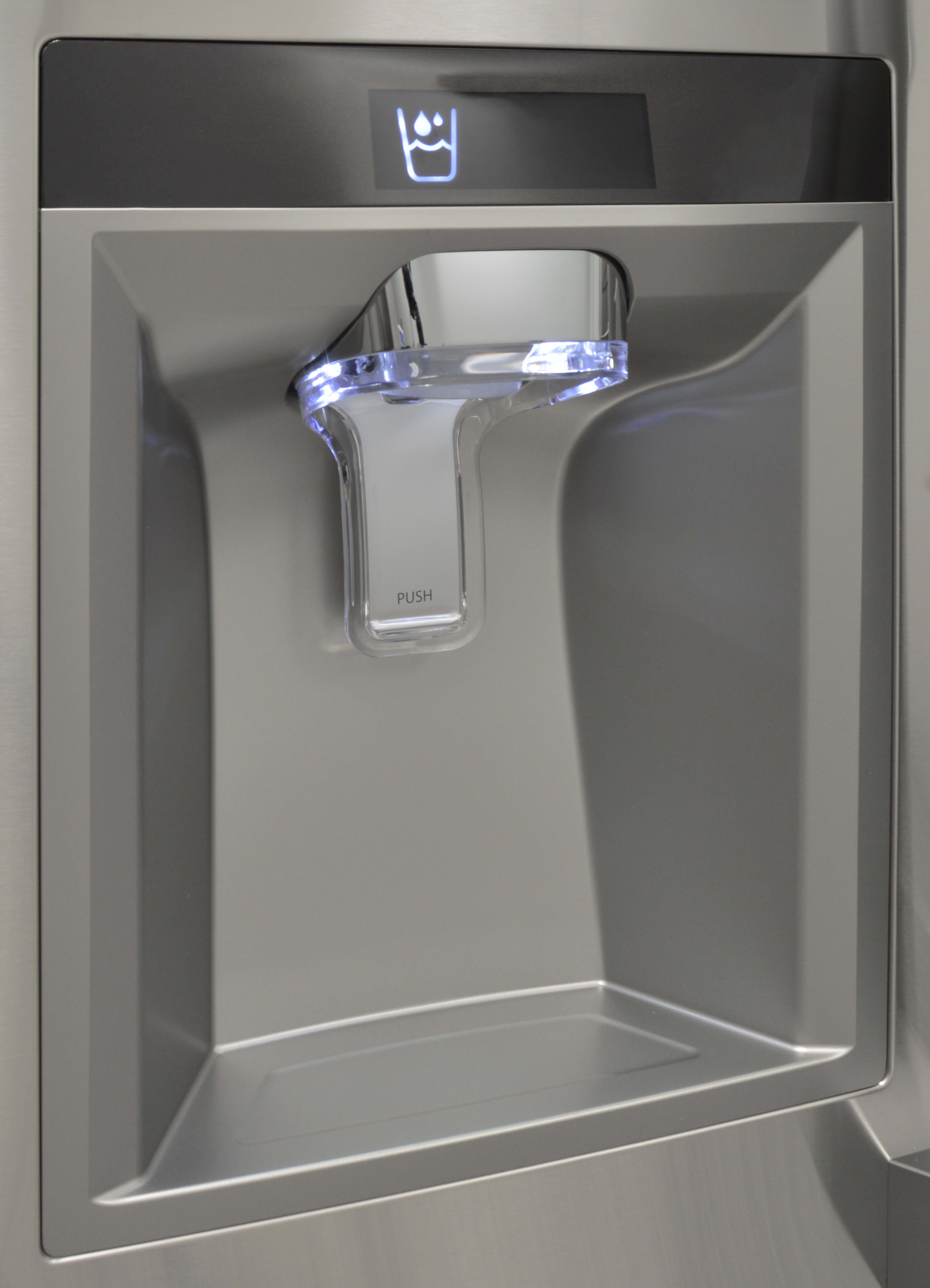 The Kenmore Pro 79993's minimalist dispenser gives the fridge a classy, high-end look.