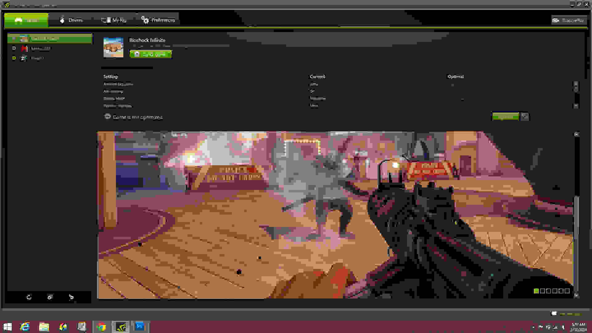 The game optimization feature on Nvidia GeForce Experience