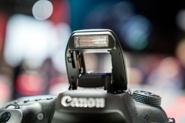 The 7D Mark III still sports the pop-up flash for those dark times without an external light.