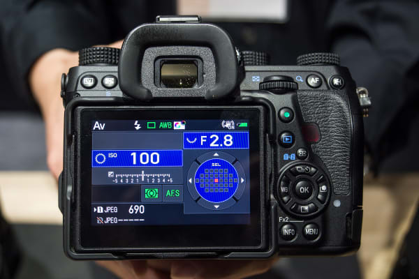 The back of the Pentax K-1