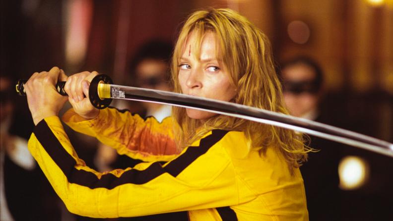 Uma Thurman wields fine Japanese steel in 'Kill Bill.'