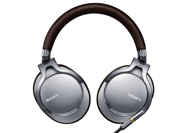 Sony's MDR-1A hi-fi headphones in silver and brown