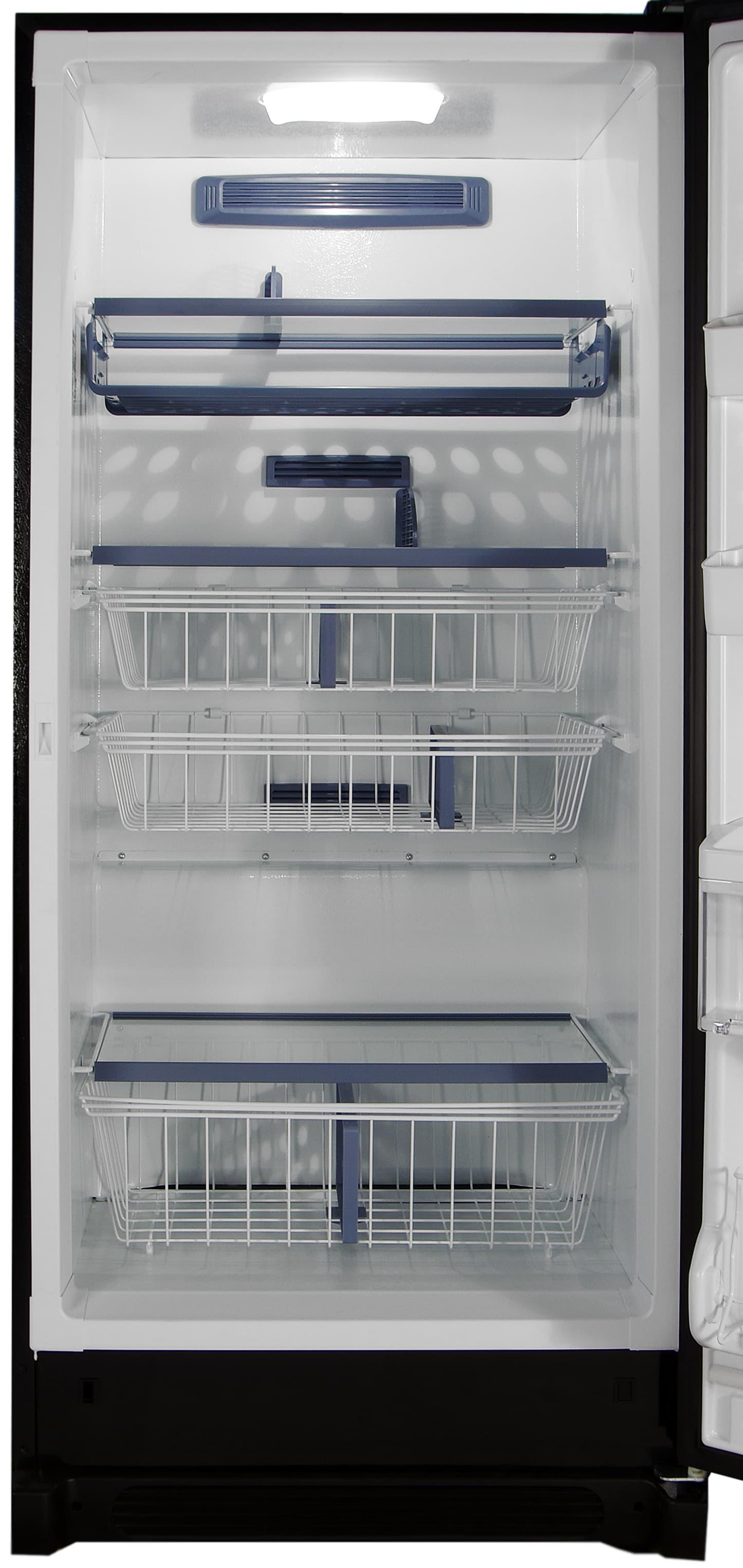 Pizza racks, sliding drawers, glass shelves: it's all found in the Kenmore Elite 28093 freezer.