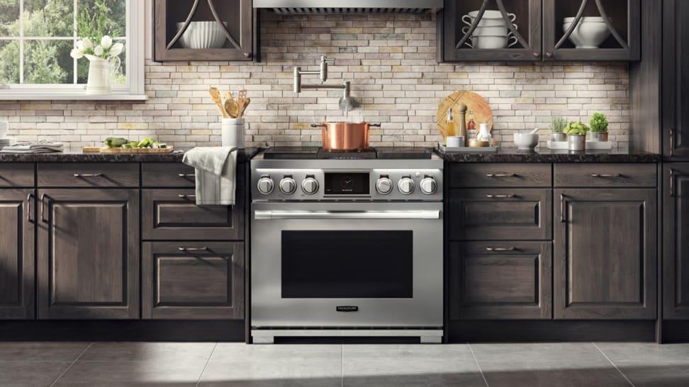 Signature Kitchen Suites 36-inch range in a kitchen