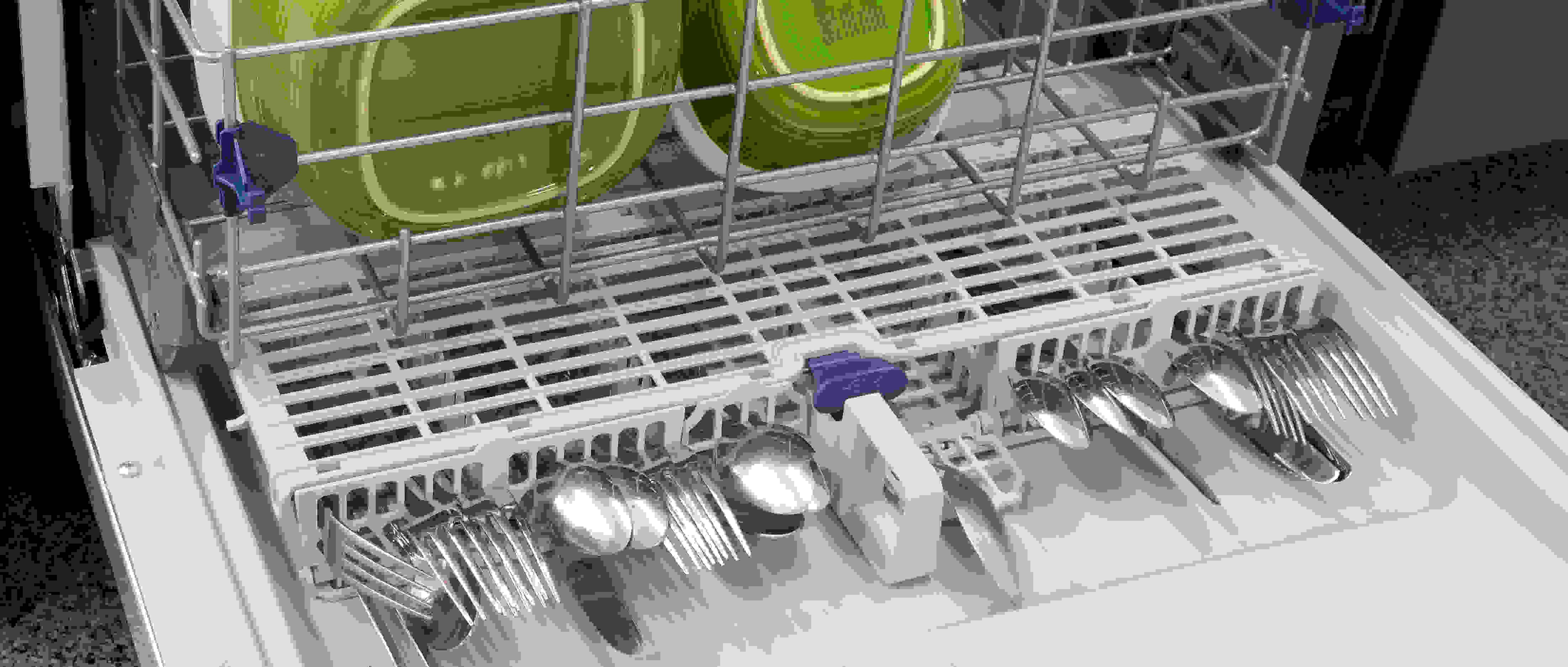 Whirlpool WDF540PADM cutlery basket on door