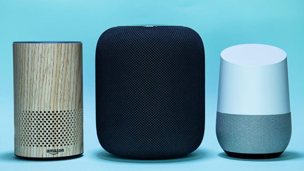 Amazon Echo vs. Apple HomePod vs. Google Home