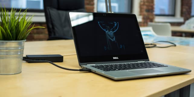 Dell Inspiron 13 7000 2-in-1 on a table