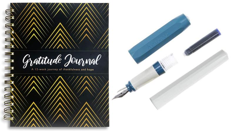 Kaweco Perkeo fountain pen, Harvest Cruise gratitude journal