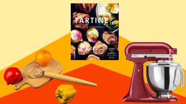 Danish dough whick, cover of the Tartine cookbook, Kitchenaid mixer