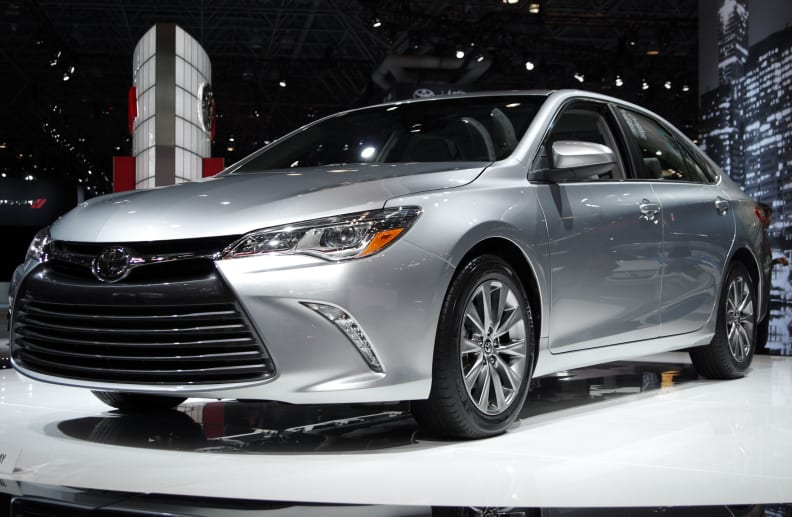 The 2015 Toyota Camry features a new face.