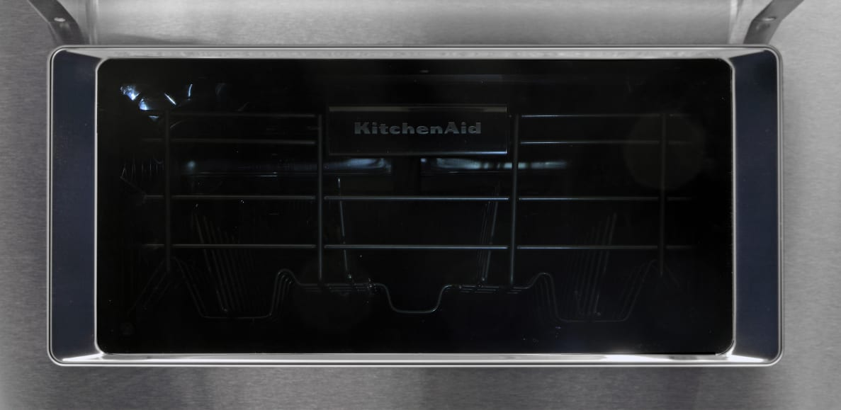 Looking through the dishwasher's window
