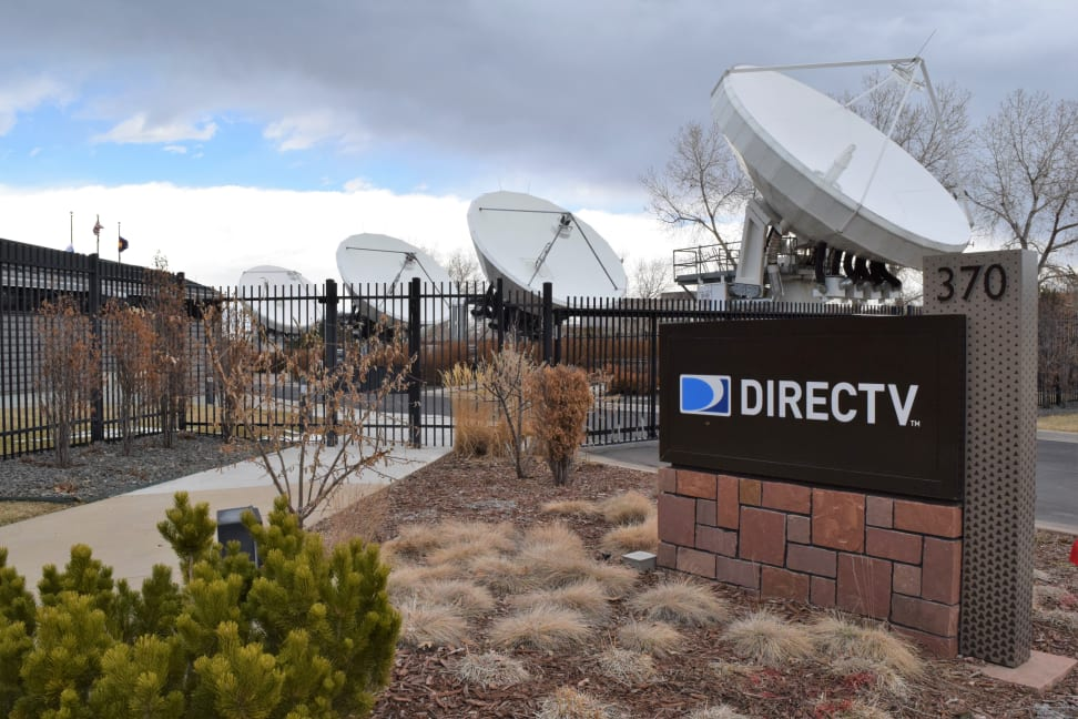 DirecTV facility with satellite dishes
