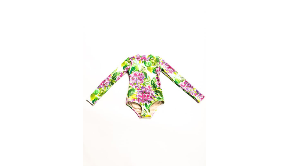 Mott 50 Mini Kelly long sleeve girls swimsuit
