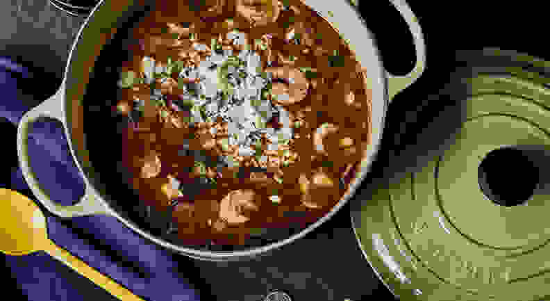 Le Creuset with gumbo