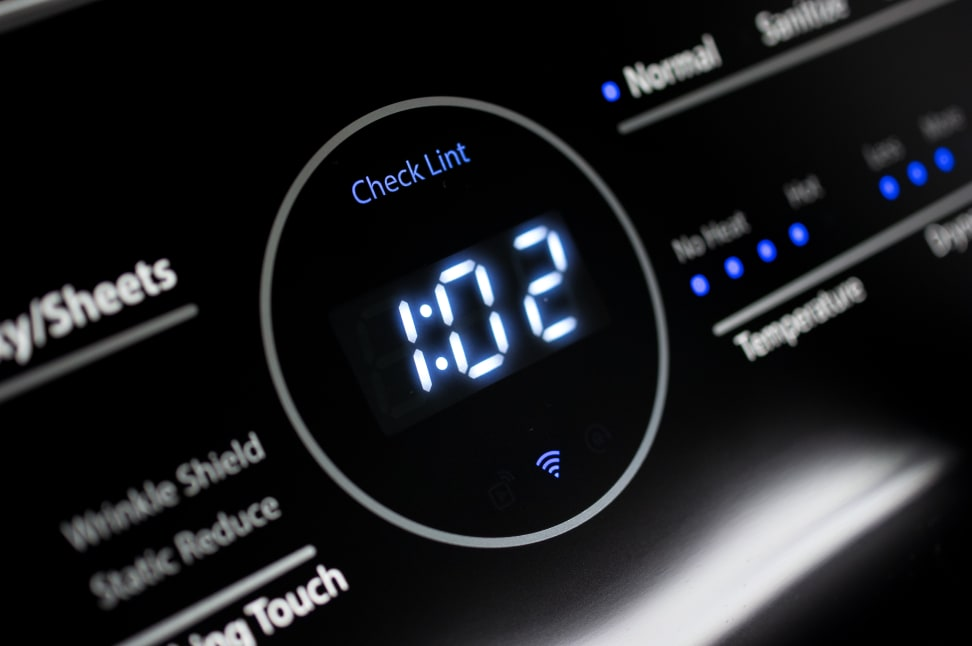 Whirlpool smart dryer timer with WiFi indicator