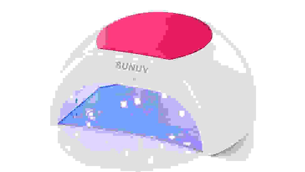 SunUV LED/UV nail lamp on white background