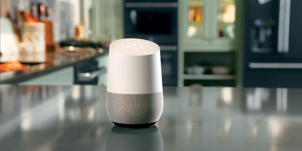 Google Home controlling various GE kitchen appliances