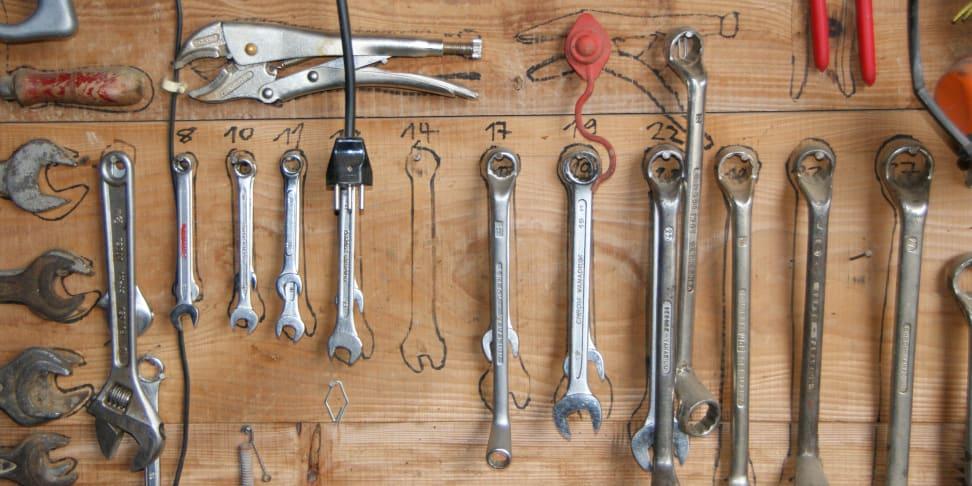 Tool set on the wall