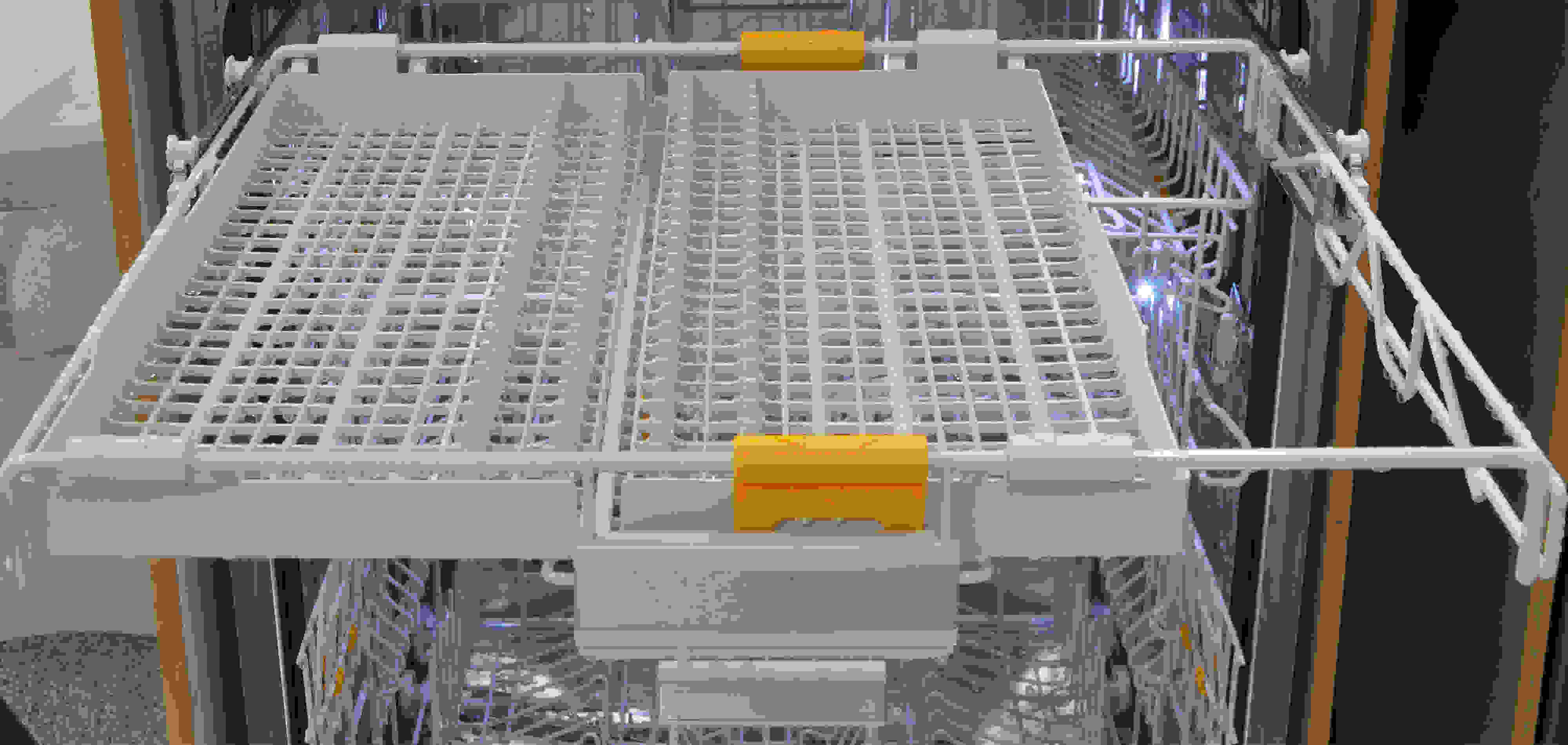 Sliding sections of the third rack out of the way