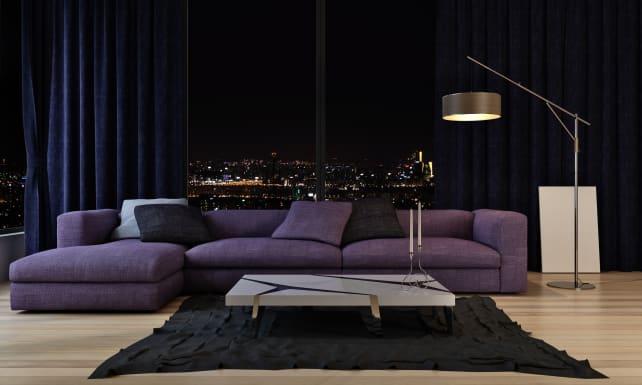 Purple-living-room