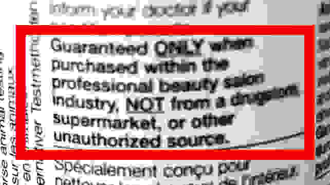 Counterfeit label shampoo